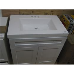 30 INCH WHITE VANITY WITH COUNTER TOP