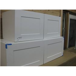 PAIR OF 30 / 36 OVER HEAD CABINET DAMAGED