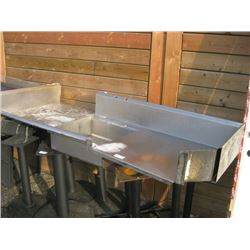 76 INCH STAINLESS STEEL DISH SINK