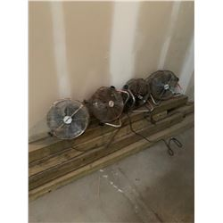 4PC AREA FANS RUSTY