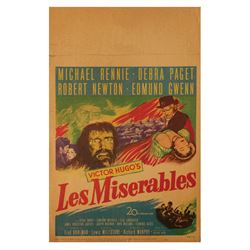 """Les Miserables"" Window Card."