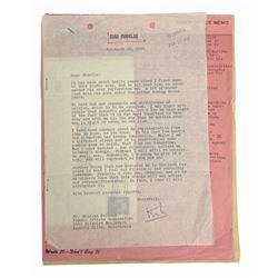 Kirk Douglas Typed Letter Signed to Agent Charles Feldman.