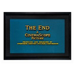 20th Century Fox CinemaScope  The End  Title Artwork.