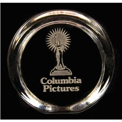 Columbia Pictures Glass Paperweight.