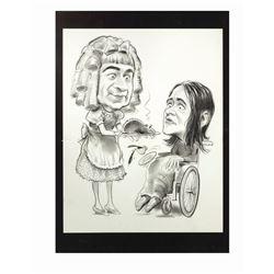"""Lemmon & Matthau """"Baby Jane"""" Caricature Drawing."""