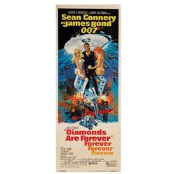 James Bond 007 Diamonds are Forever Insert Poster.