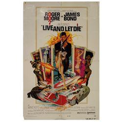 James Bond 007 Live and Let Die Poster.