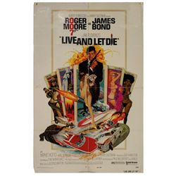 James Bond 007 Live and Let Die Poster.