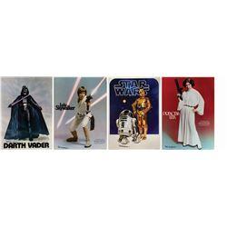 Set of (4) Bob Seidemann Signed Star Wars Posters.