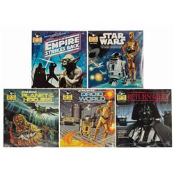 Collection of (5) Star Wars 33 1/3 Storybook Records.