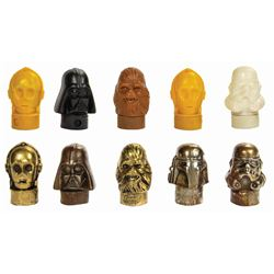 Set of (10) Empire Strikes Back Candy Containers.