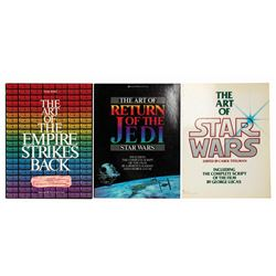 Set of (3) The Art of the Star Wars Trilogy Books.
