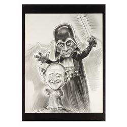"""Lemmon & Matthau """"Star Wars"""" Caricature Drawing."""
