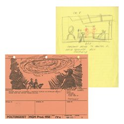 Poltergeist SFX Production Drawing and Storyboard.