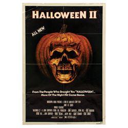 Halloween II 1-Sheet Poster Signed by Dick Warlock.