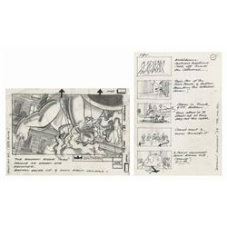 Batman Joker Parade Storyboard Art.