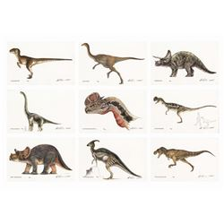 Collection of (9) Jurassic Park Lithographic Prints.