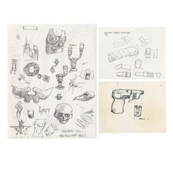 Set of (3) Hellboy Concept Art Pages.