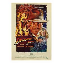Indiana Jones and the Temple of Doom One Sheet Poster.