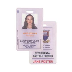 "Thor ""Jane Foster"" Prop ID Badge."
