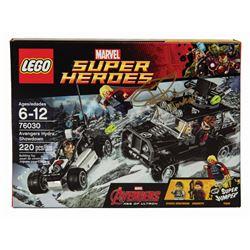 Lego Marvel Avengers Retired Set Signed by Jeremy Renner.