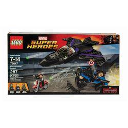 Lego Marvel Black Panther Retired Set Signed by Sebastian Stan.