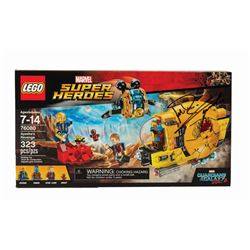 Lego Marvel Guardians Retired Set Signed by Michael Rooker.