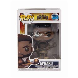 M'Baku Funko Pop Toy Signed by Stan Lee.