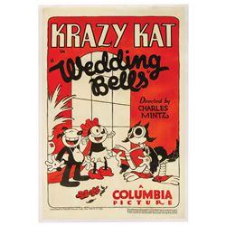 "Krazy Kat ""Wedding Bells"" One Sheet Poster."