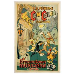 Ub Iwerks The Brementown Musicians One Sheet Poster.