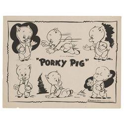 Porky Pig Character Model Sheet.