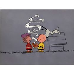 Peanuts Dolly Madison Commercial Cel Setup.