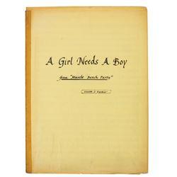 """Original """"A Girl Needs a Boy"""" Musical Arrangement."""