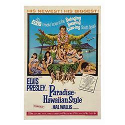 Elvis Presley Paradise Hawaiian Style One Sheet Poster.