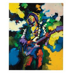 Jimi Hendrix Book Cover Painting.