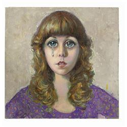 "Original Painting for ""Killing Me Softly"" Album Cover."