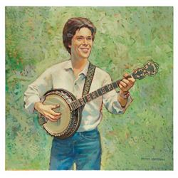 "Original ""Rhapsody for Banjo"" Album Cover Painting."