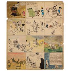 Original Buster Brown Comic Strip Art by R.F. Outcault.
