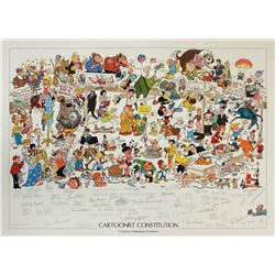 Lithograph Signed by Over 50 Comic Art Legends.