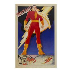 """Shazam!"" Original Poster Painting."