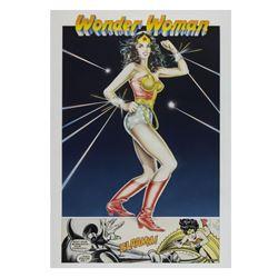 """Wonder Woman"" Original Poster Painting."