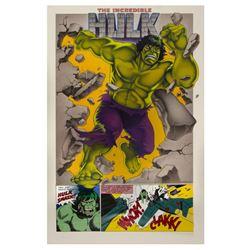 """Hulk"" Original Poster Painting."