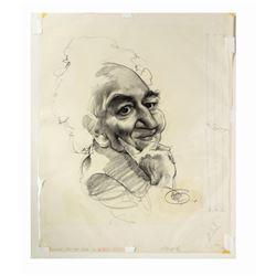 Original Robert Graves Caricature by Peter Green.