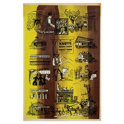 Knott's Berry Farm and Ghost Town Theme Park Poster.
