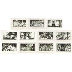 Set of (11) King Kong Encounter Attraction Storyboards.