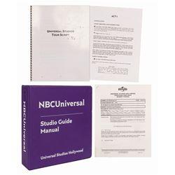 NBC Universal Studio Tour Guide Manual.