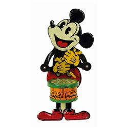 Mickey Mouse Nifty Jazz Drummer Tin Toy.