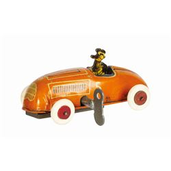 Donald Duck Race Car Wind-Up Tin Toy.