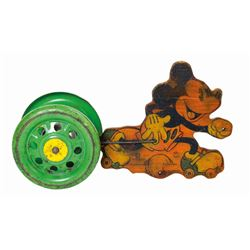 Mickey Mouse Roller Skater Pull Toy.