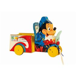 Mickey Mouse Safety Patrol Pull Toy.